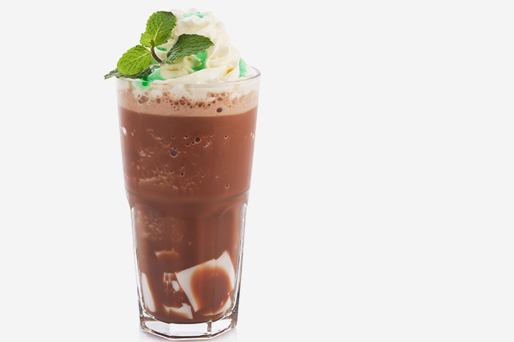Mint Choco Mocktail Recipe Images