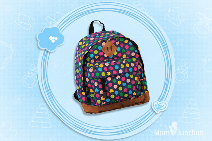 Ollington St. Collection Kids Backpack With Polka Dots