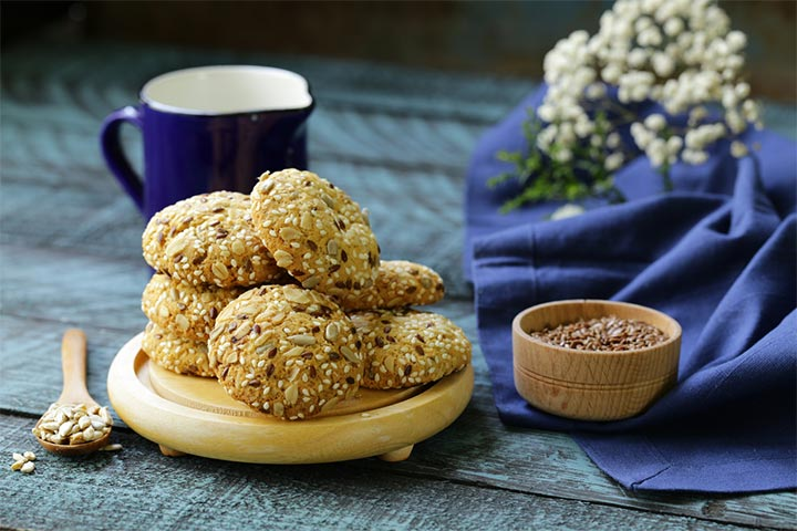 Seeds and nuts oats cookies