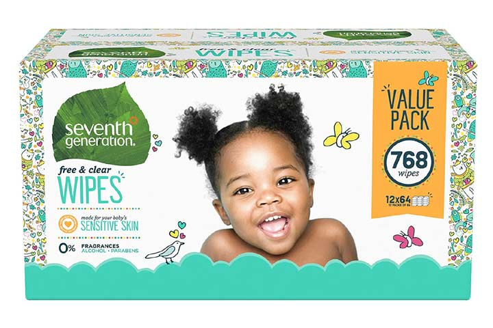 Seventh Generation Free And Clear Baby Wipes - Flip-top Dispenser