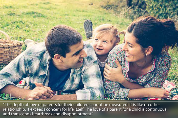The depth of love of parents for their children cannot be measured - Thank you Quotes to Parents from Daughter