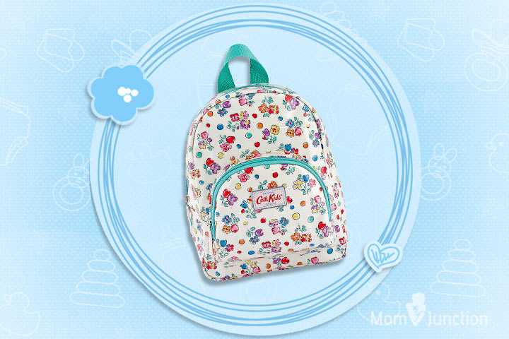 White And Blue Heart Print Backpack From Cath Kidston