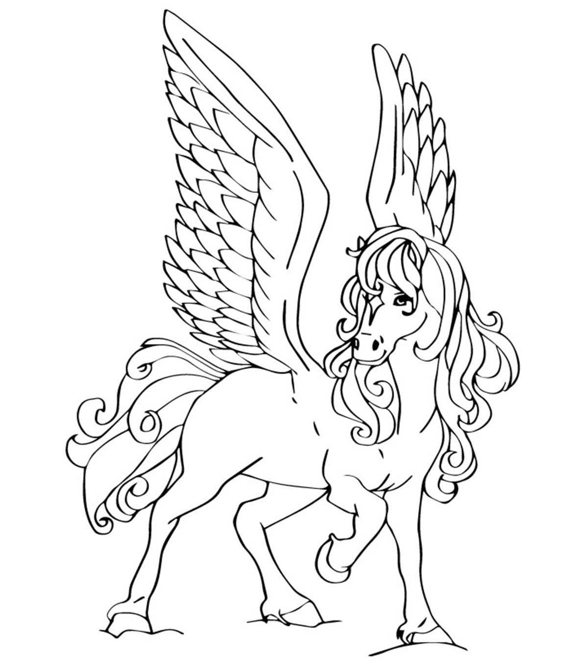 - Top 10 Free Printable Pegasus Coloring Pages For Toddlers