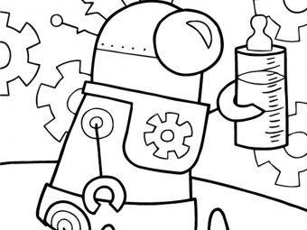 20 Cute Robot Coloring Pages For Your Little One