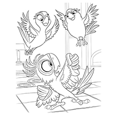 Rio Coloring Pages - Bia With Carla And Tiago