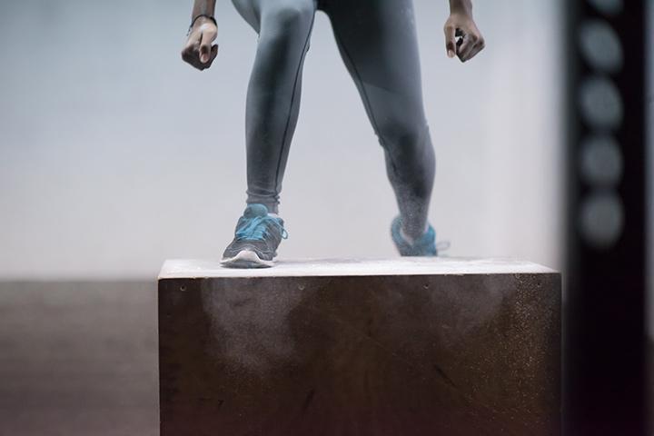 Box Set-Up Squat Exercise