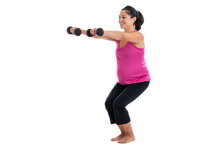 Dumbbell Squat Workout While Pregnancy