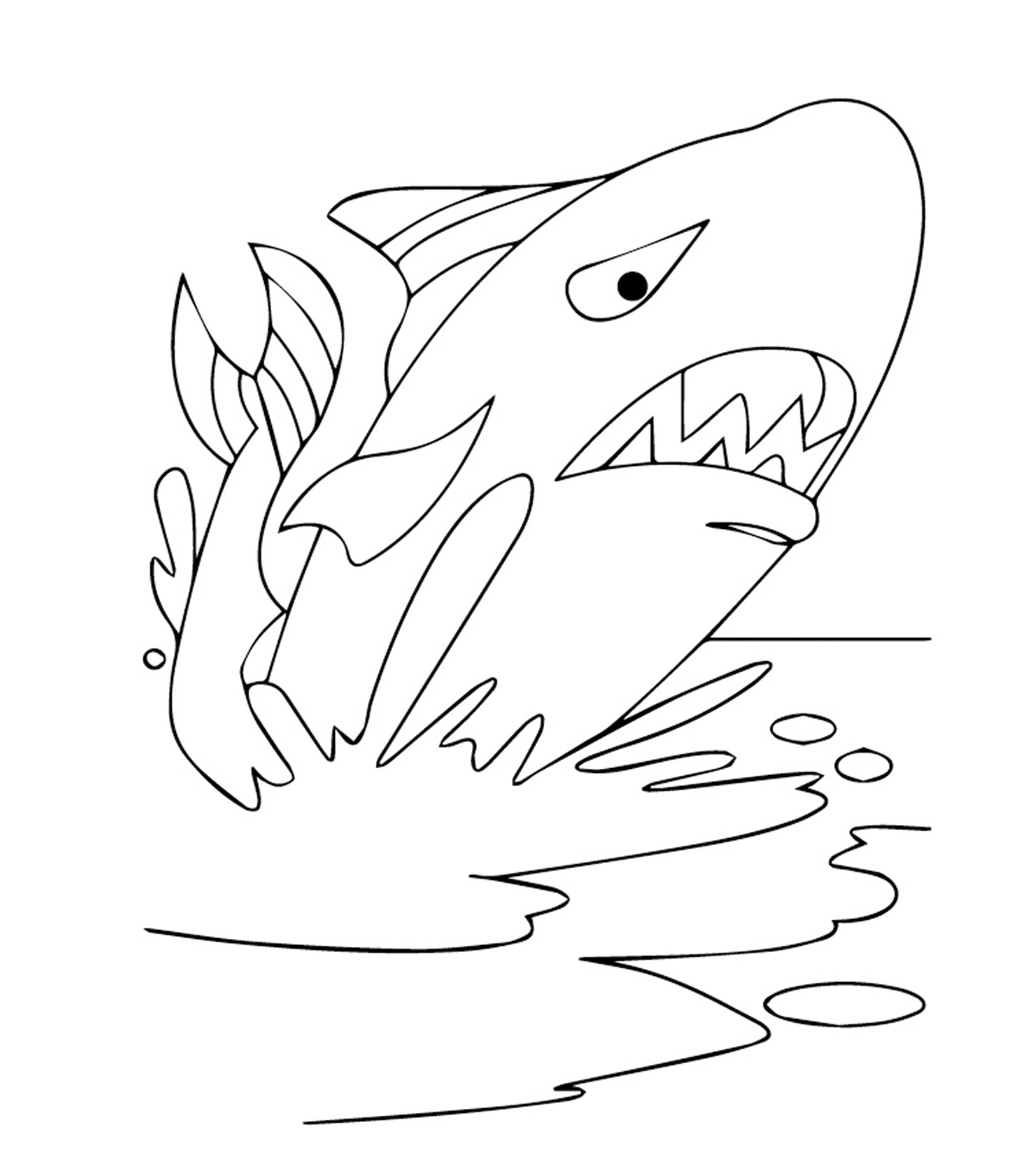 Killer Whale (Orca) coloring page - Animals Town - animals color ... | 1350x1200