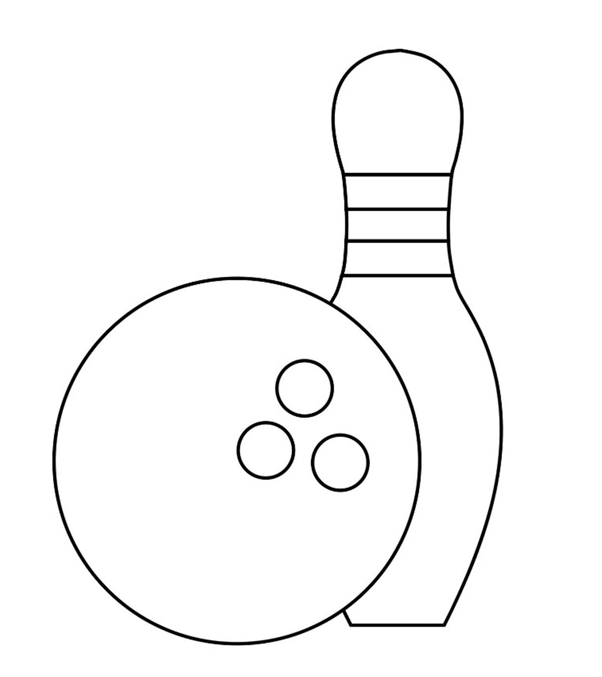 10 Amazing Bowling Coloring Pages For Your Toddler