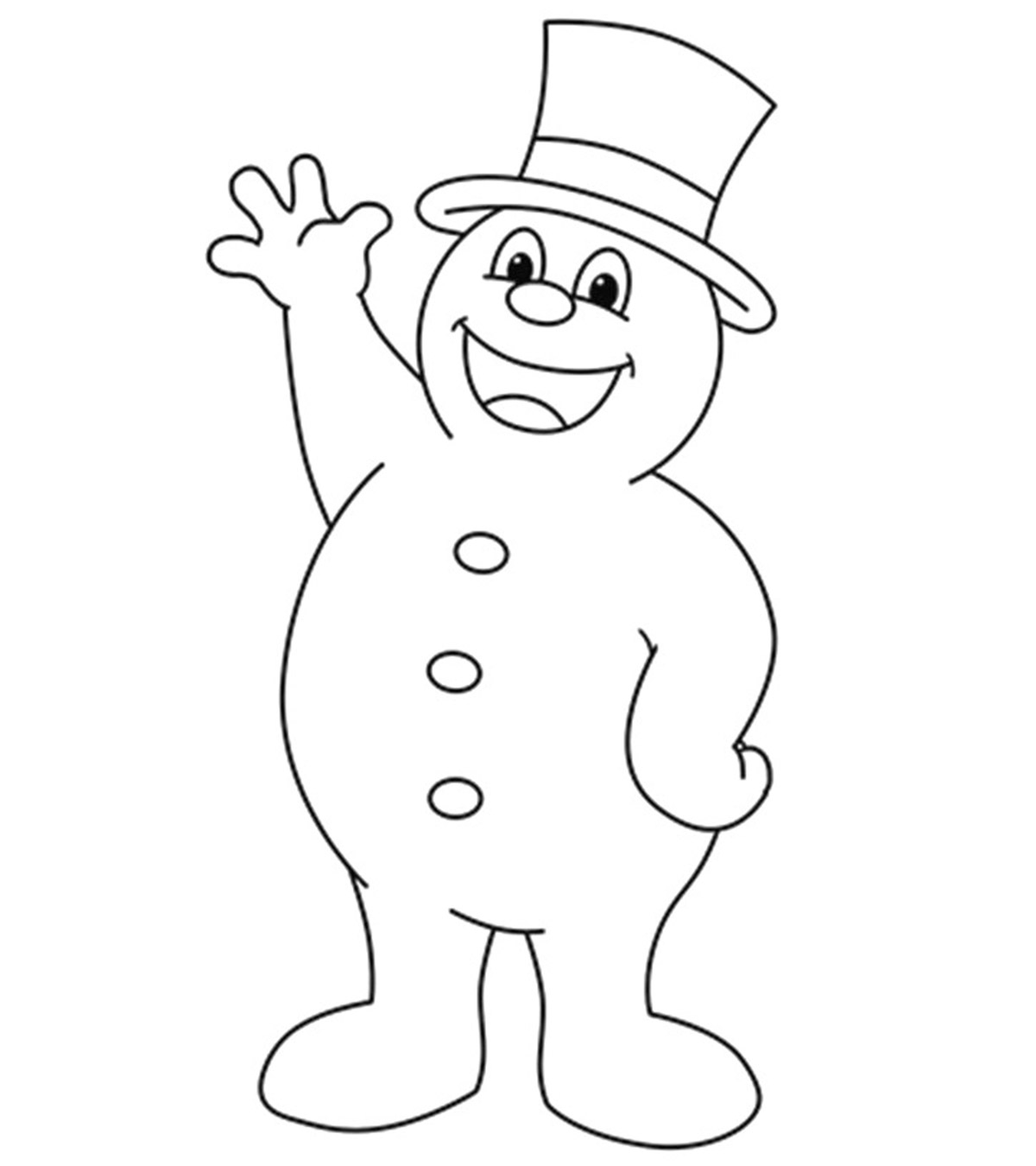 photograph about Frosty the Snowman Sheet Music Free Printable named 10 Adorable Frosty The Snowman Coloring Internet pages For Infants