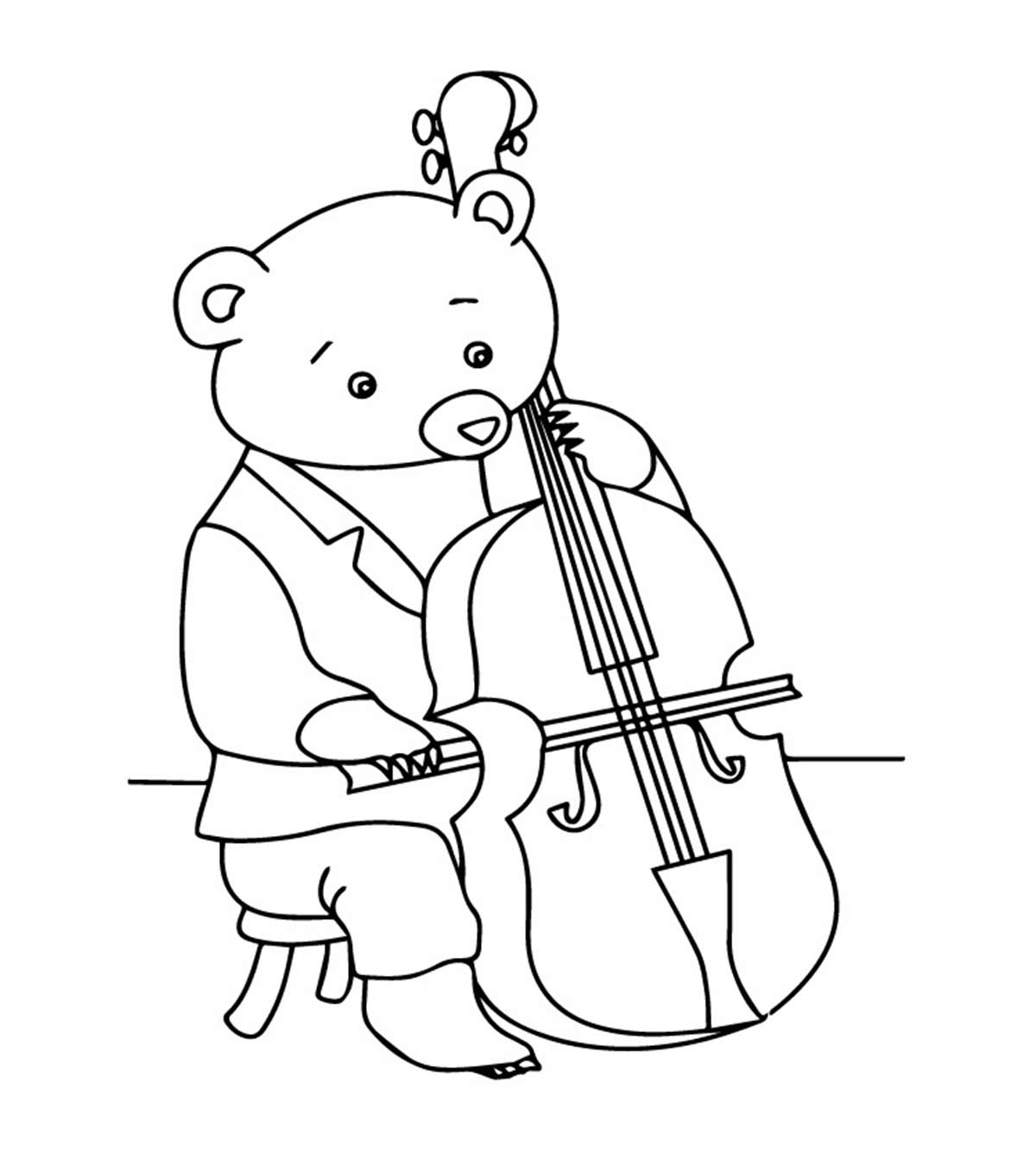 5 Lovely Violin Coloring Pages For Your Toddler