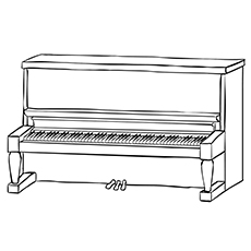 Piano Coloring Pages - Baby Grand