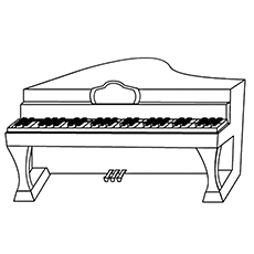 Piano Coloring Pages - Console Piano