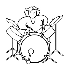 Electronic Drum Coloring Page