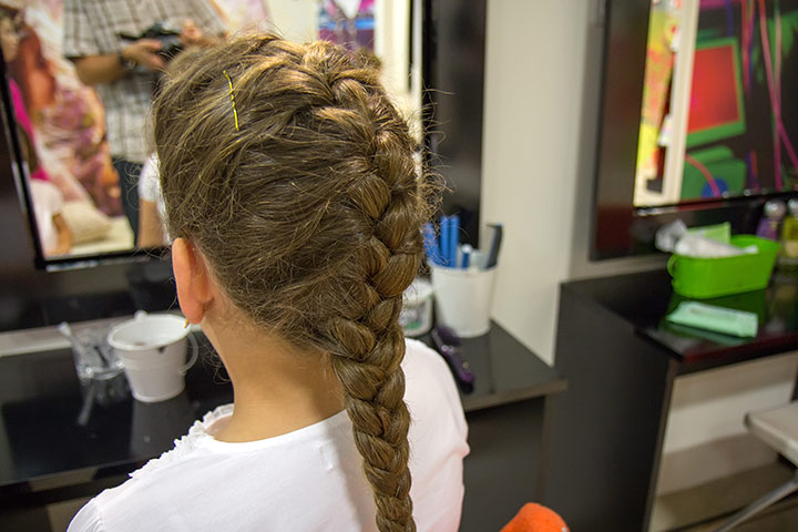 Hairstyles For Kids With Long Hair - French Braid