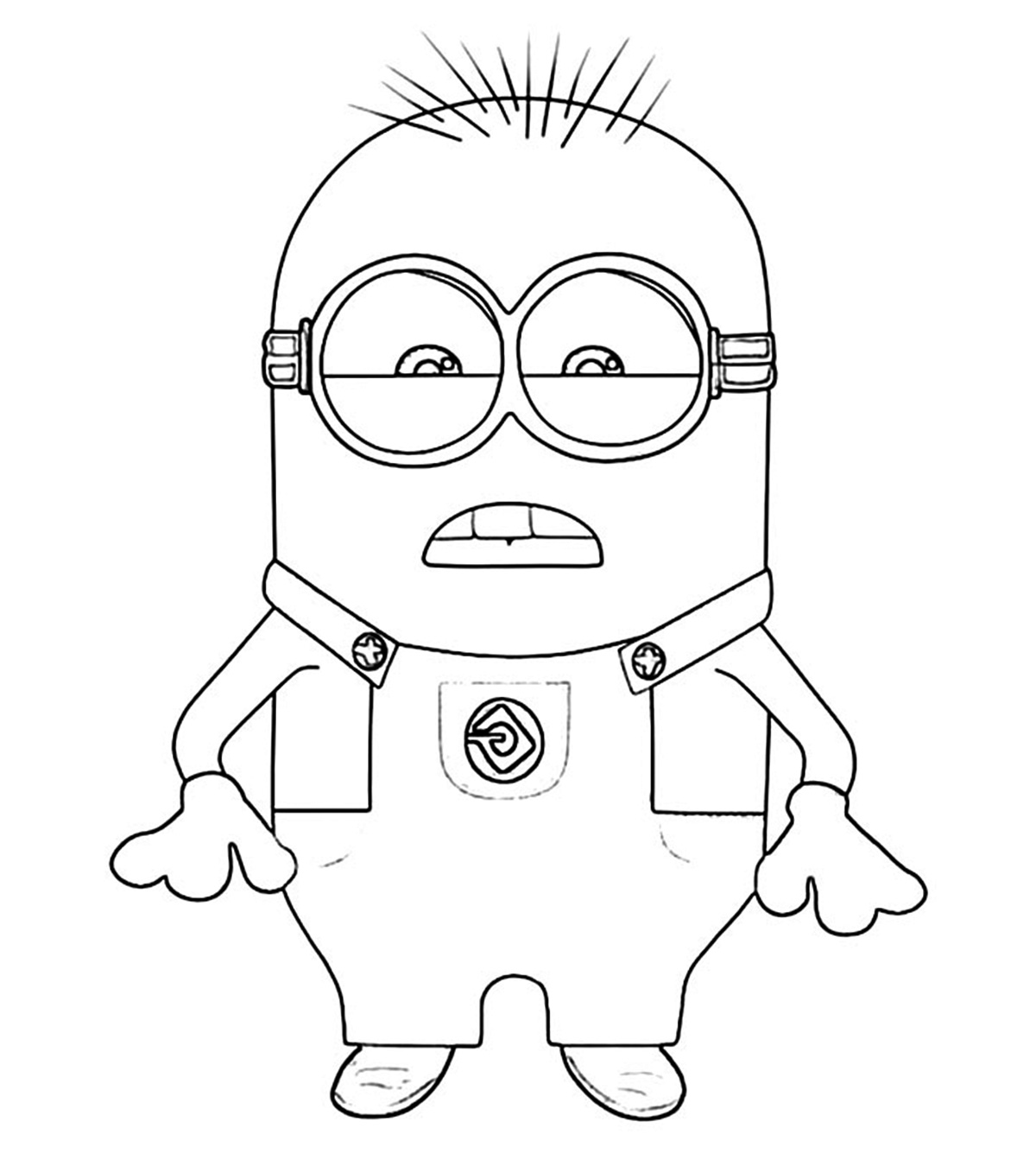 Agnes from Despicable Me coloring page | Free Printable Coloring Pages | 1350x1200