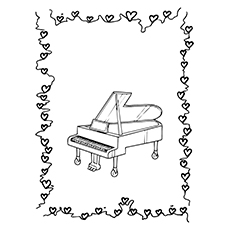 Piano Coloring Pages - Parlor Grand