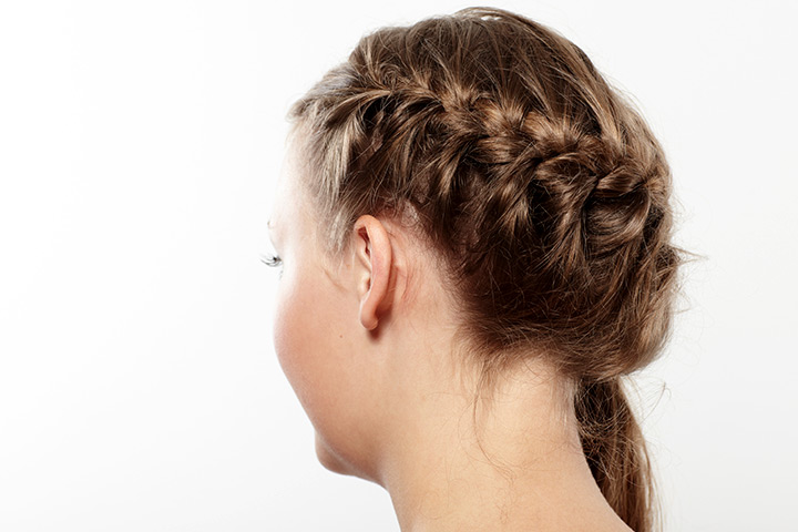 Hairstyles For Kids With Long Hair - Single Side Dutch Braid