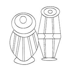 Drum Coloring Page - Tabla