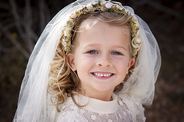 Hairstyles For Kids With Long Hair - Veil Hairstyle
