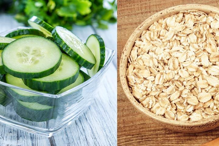 Cucumber and oatmeal