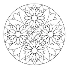Sunflower-Mandala