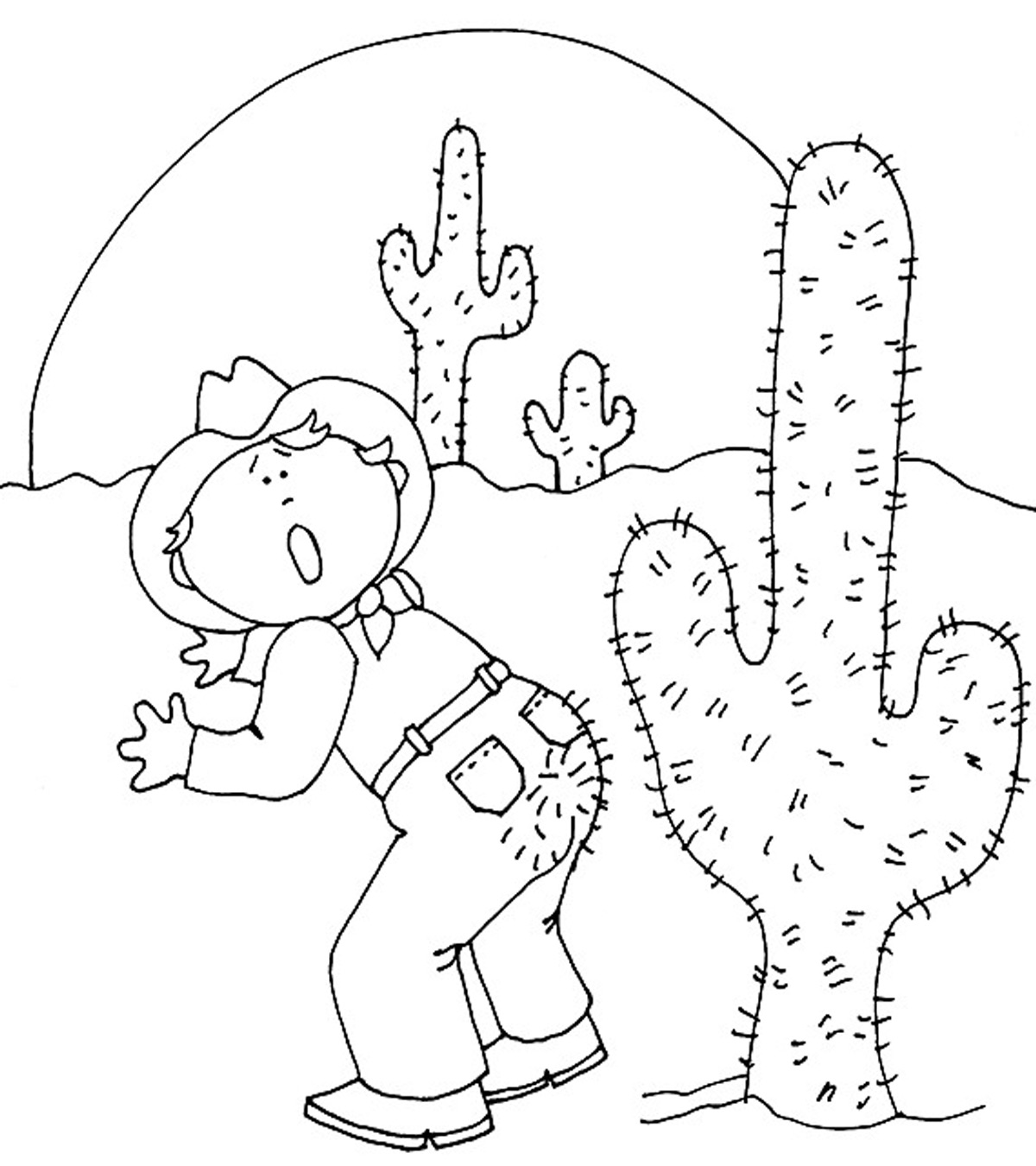 Top 10 Cactus Coloring Pages For Toddlers