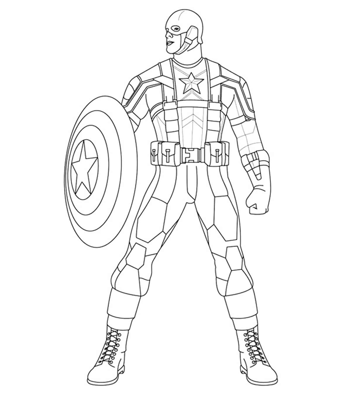 - 10 Amazing Captain America Coloring Pages For Your Little One