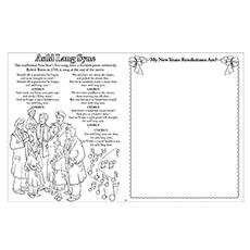 Auld Lang Syne Worksheet to Color