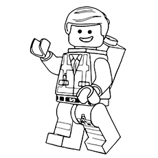 Lego Movie Emmet Coloring Pages -