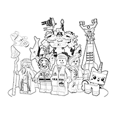 Lego Movie Gang Coloring Pages
