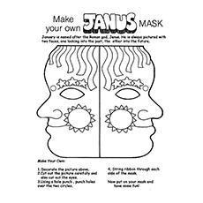 Janus' Mask Coloring Page