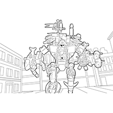 Lego Movie MetalBeard Picture to Color