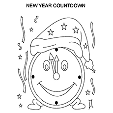 New Year Countdown Begins Picture to Color