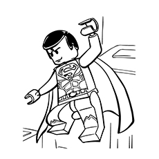 Free Printable Coloring Sheet of Lego Movie Superman