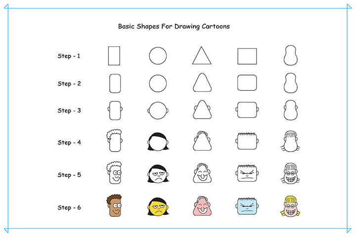 How To Draw Cartoons For Kids - Shapes