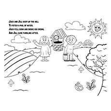Jack And Jill Coloring Page - A Detailed Coloring Page Of Jack And Jill