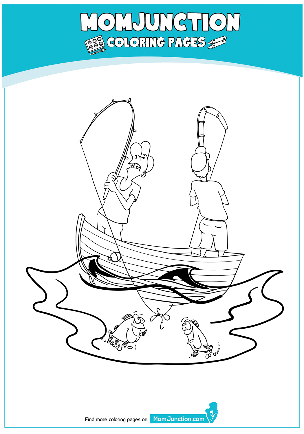 Amusing-Coloring-Page-Of-A-Fishermen-17