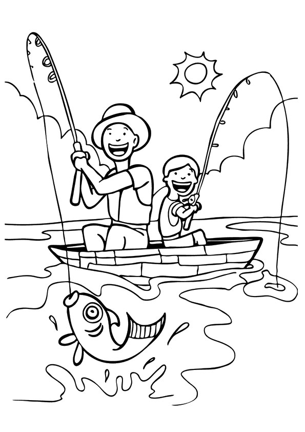 Fisherman-Fishing-With-His-Son