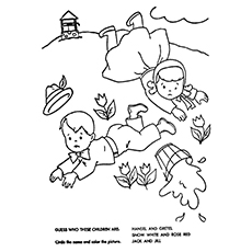 Jack And Jill Coloring Page - Guess The Kids