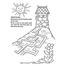 Jack And Jill Coloring Page - Help Jack And Jill Find Their Way
