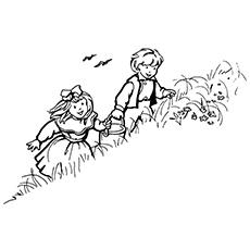 Jack And Jill Coloring Page - Jack And Jill Climbing