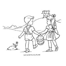 Jack And Jill Coloring Page - Jack And Jill