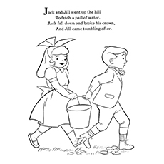 Jack And Jill Coloring Page - The Poem