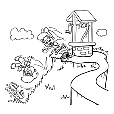Jack And Jill Coloring Page - The Tumble