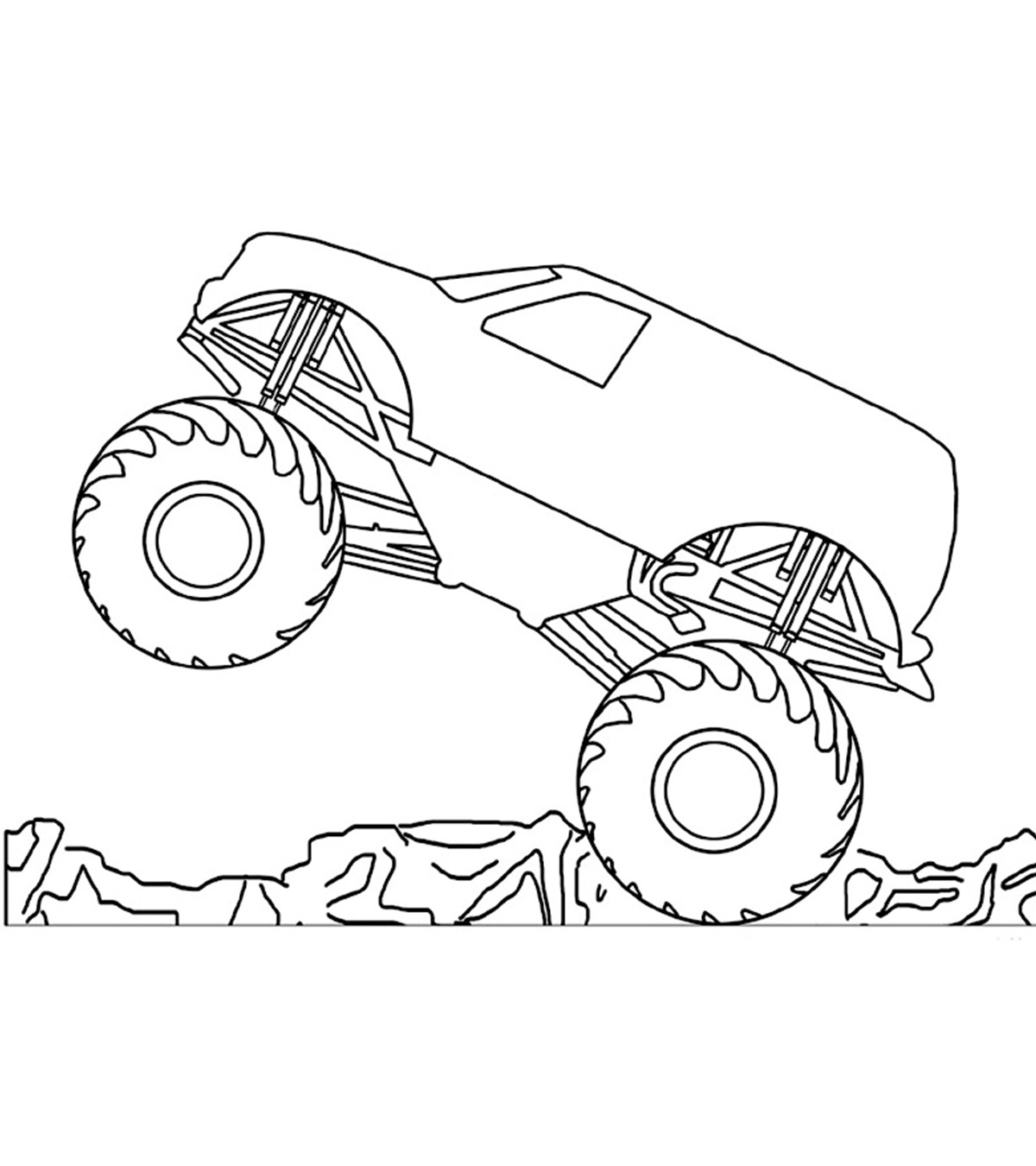 - 10 Wonderful Monster Truck Coloring Pages For Toddlers