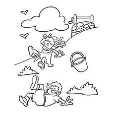Jack And Jill Coloring Page - Tumbling Down