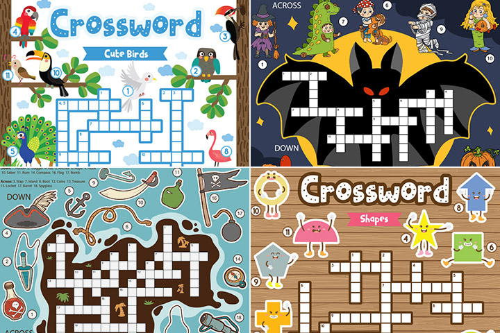 20 Learner's Crossword Puzzles For Kids MJ Web
