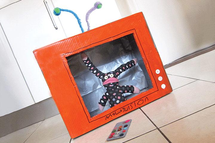 Cardboard Box Crafts For Kids - Cardboard Box Telly