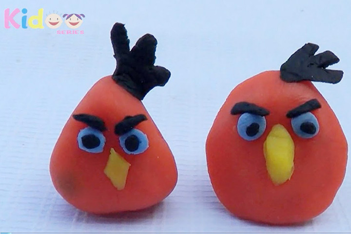 Clay Crafts For Kids - Clay Angry Birds